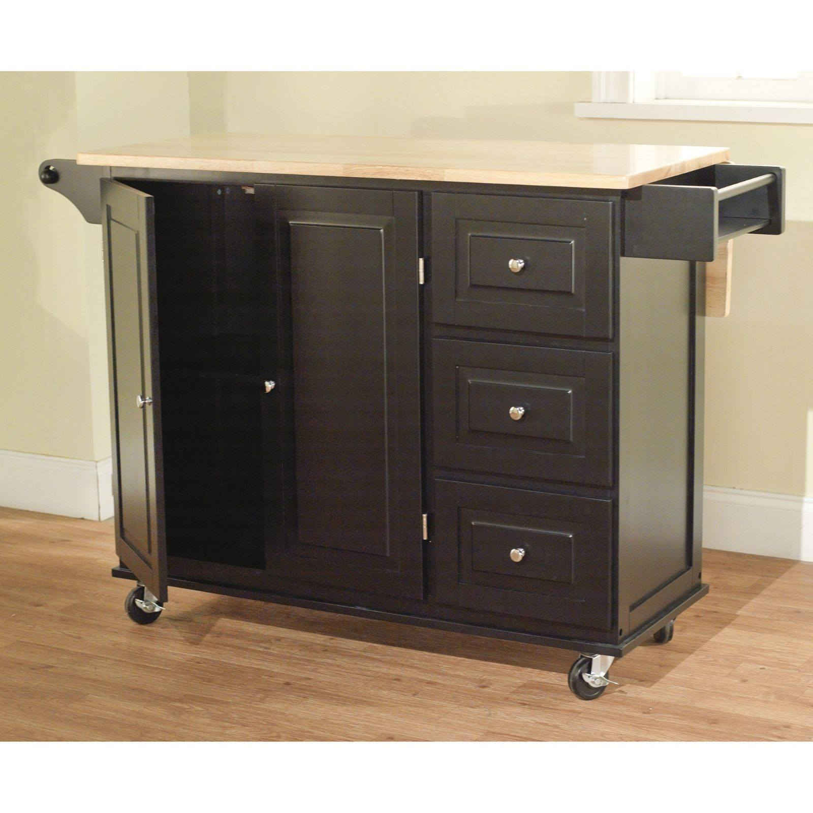 Kitchen Island Cart Portable Small Rolling Movable Mobile