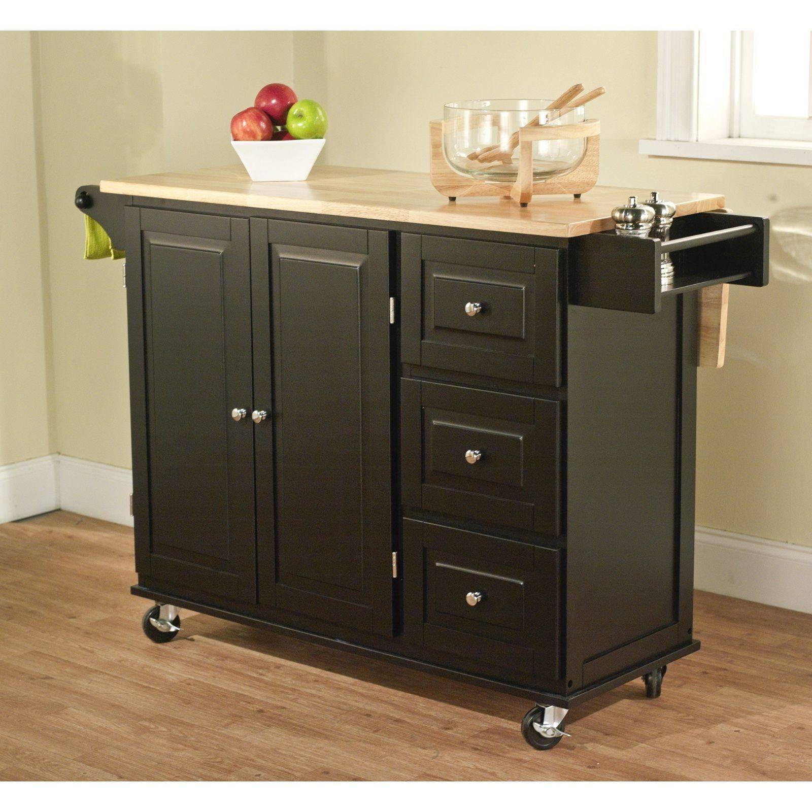 Kitchen Island Cart Portable Small Rolling Movable Mobile Wheels Trolley Table Ebay
